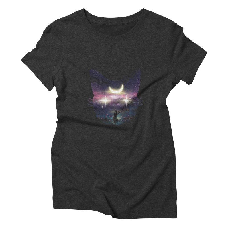 Moon Chaser Women's Triblend T-Shirt by dandingeroz's Artist Shop
