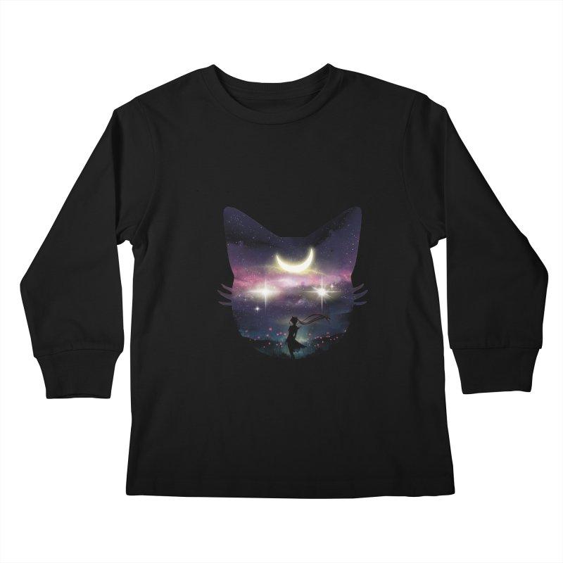 Moon Chaser Kids Longsleeve T-Shirt by dandingeroz's Artist Shop