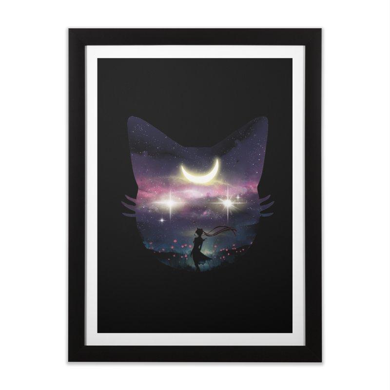 Moon Chaser Home Framed Fine Art Print by dandingeroz's Artist Shop