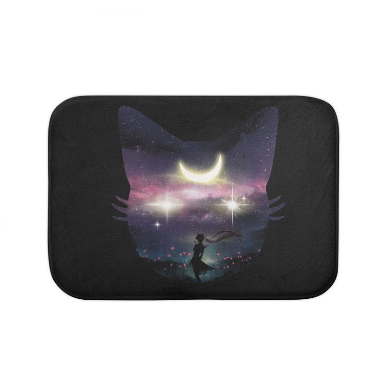 Moon Chaser Home Bath Mat by dandingeroz's Artist Shop