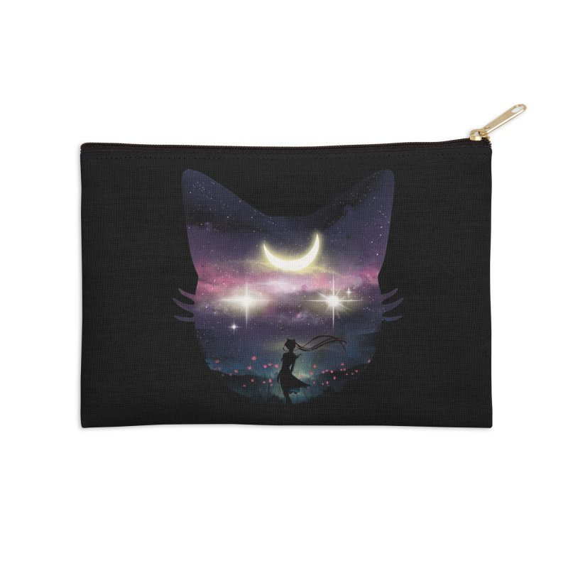 Moon Chaser Accessories Zip Pouch by dandingeroz's Artist Shop