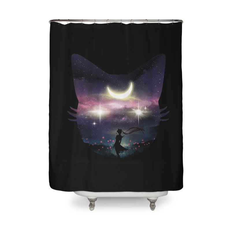 Moon Chaser Home Shower Curtain by dandingeroz's Artist Shop