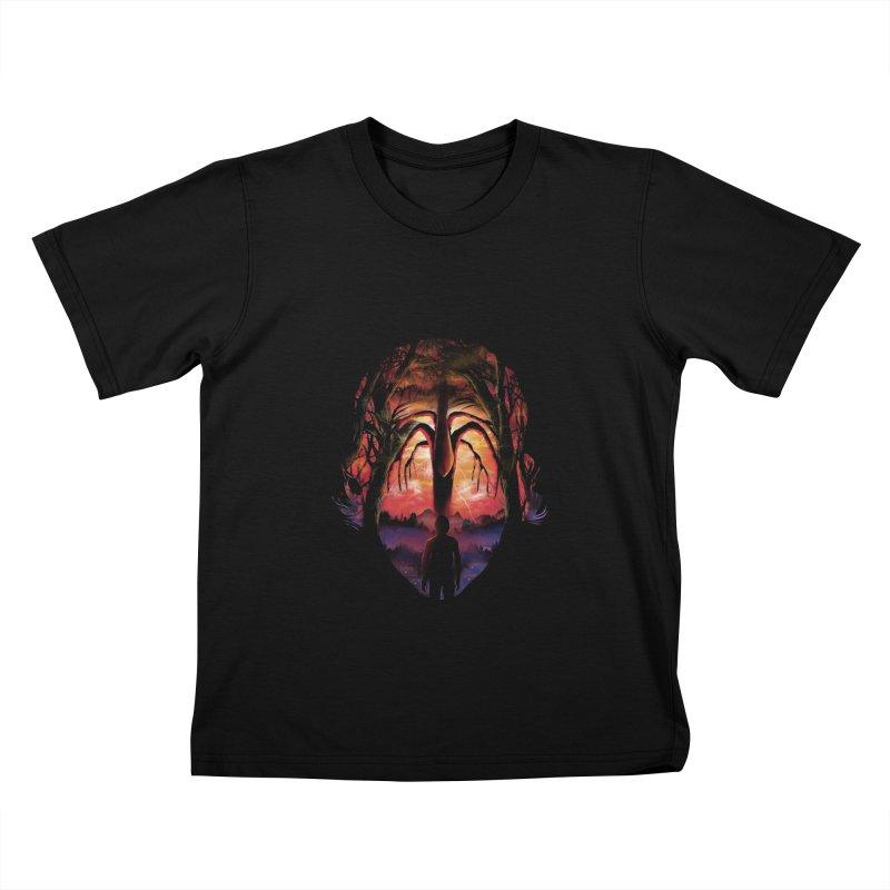 Shadow Monster Kids T-Shirt by dandingeroz's Artist Shop