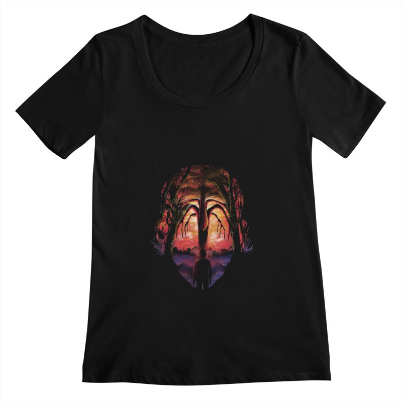 Shadow Monster Women's Scoopneck by dandingeroz's Artist Shop