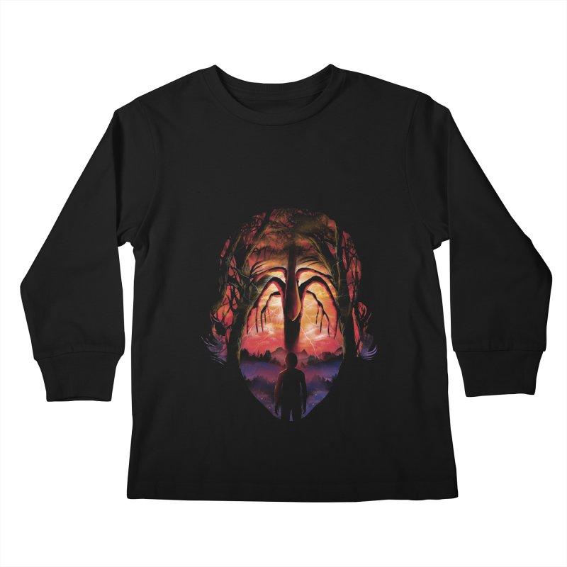 Shadow Monster Kids Longsleeve T-Shirt by dandingeroz's Artist Shop