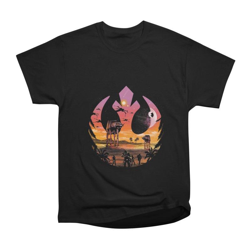 Rebellion Sunset Men's Heavyweight T-Shirt by dandingeroz's Artist Shop
