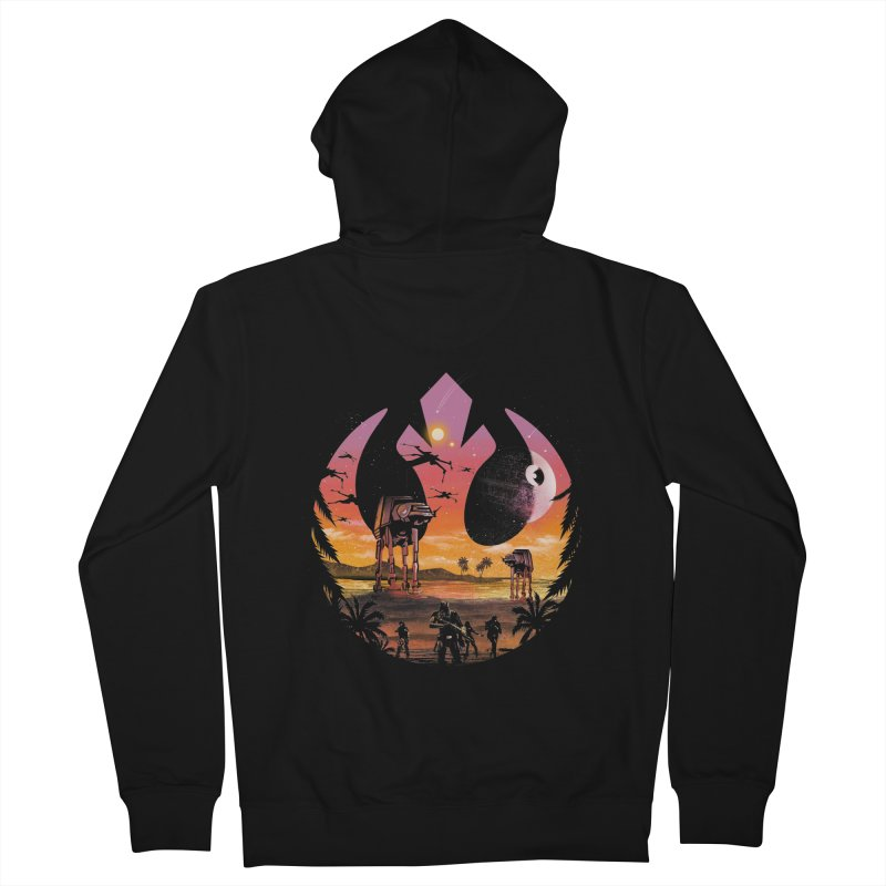 Rebellion Sunset Men's Zip-Up Hoody by dandingeroz's Artist Shop