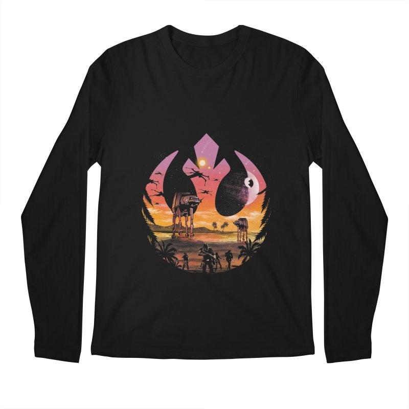 Rebellion Sunset Men's Longsleeve T-Shirt by dandingeroz's Artist Shop