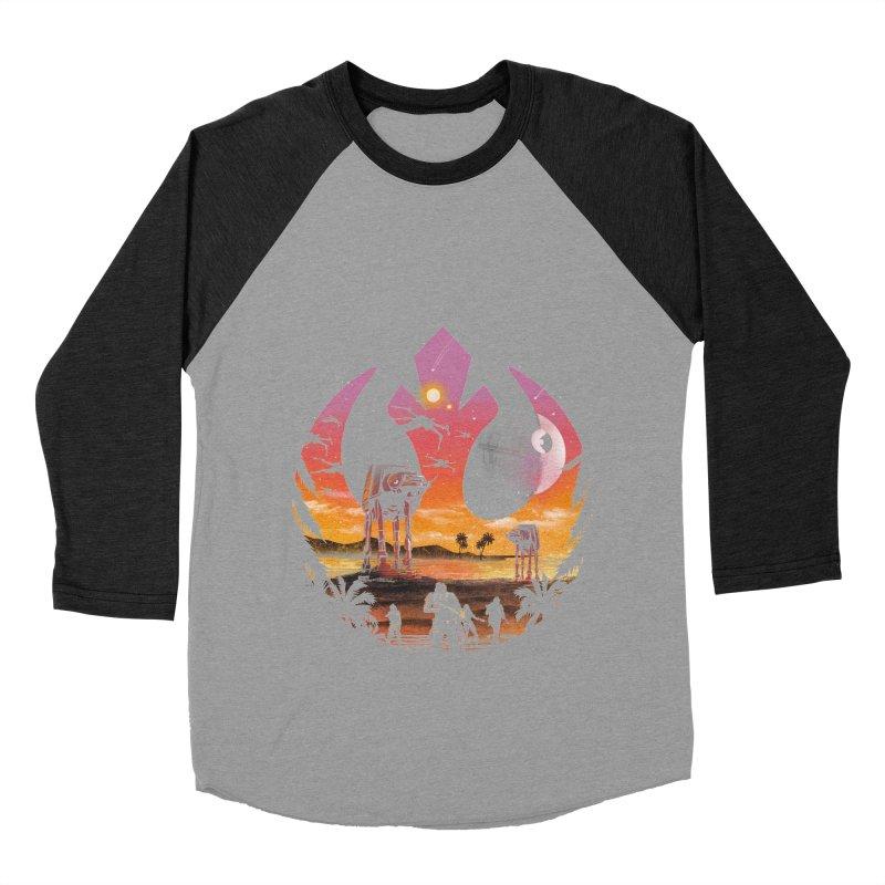 Rebellion Sunset Men's Baseball Triblend Longsleeve T-Shirt by dandingeroz's Artist Shop