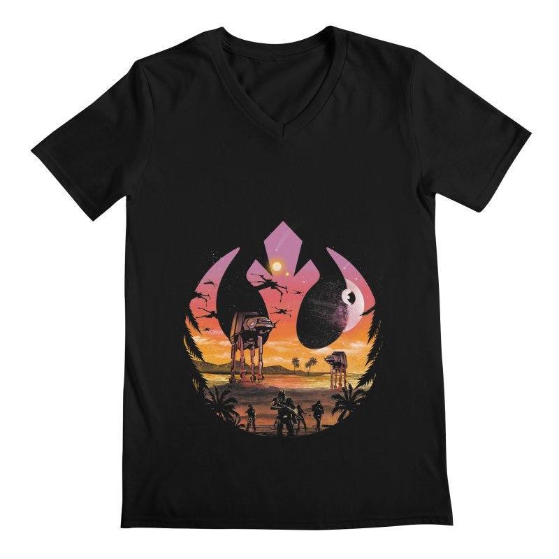 Rebellion Sunset Men's V-Neck by dandingeroz's Artist Shop
