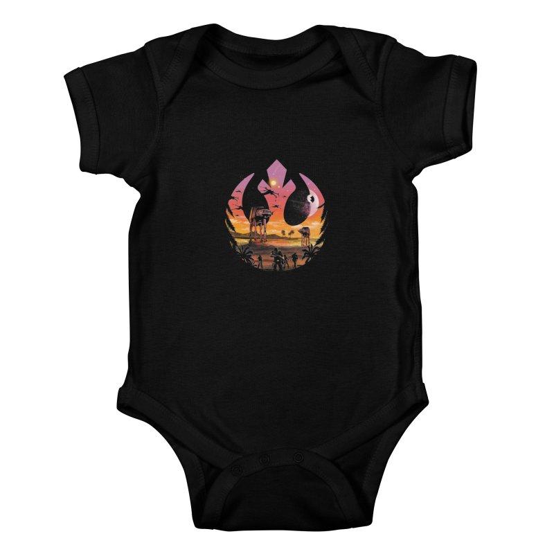 Rebellion Sunset Kids Baby Bodysuit by dandingeroz's Artist Shop