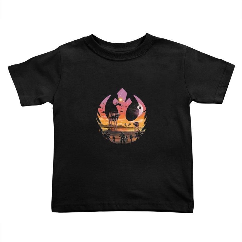 Rebellion Sunset Kids Toddler T-Shirt by dandingeroz's Artist Shop