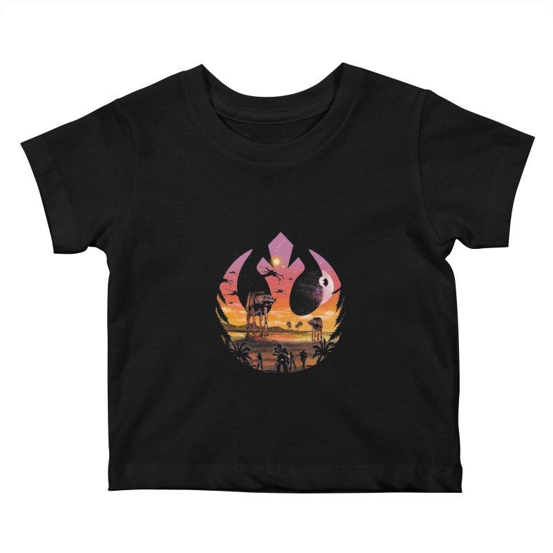 Rebellion Sunset Kids Baby T-Shirt by dandingeroz's Artist Shop