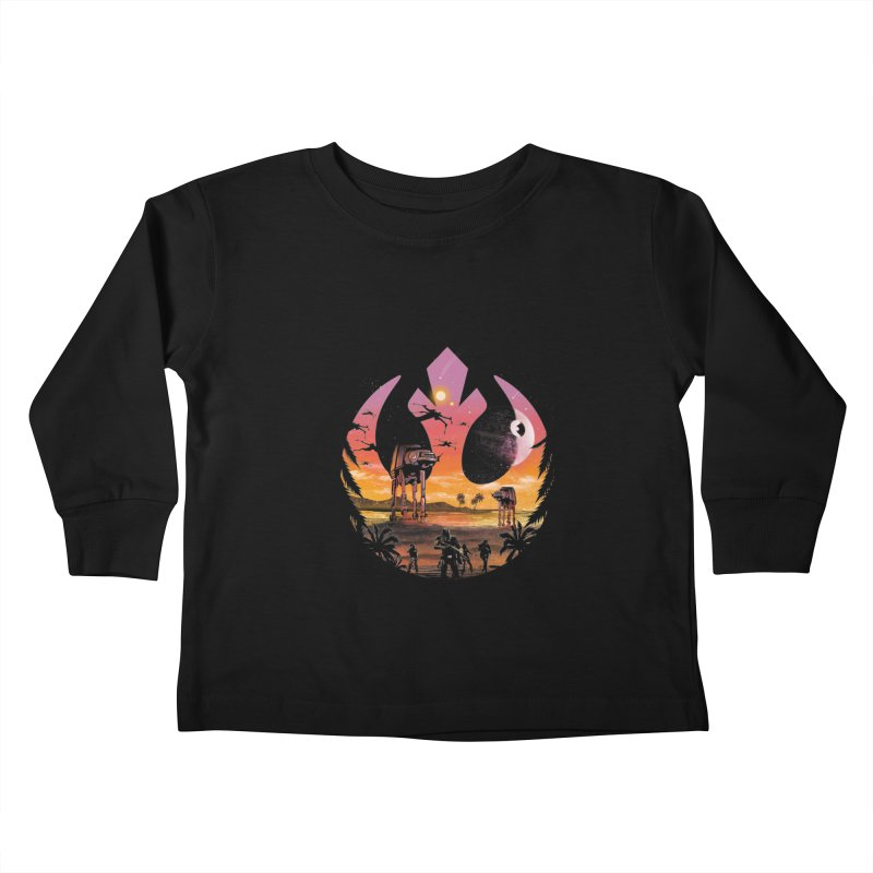 Rebellion Sunset Kids Toddler Longsleeve T-Shirt by dandingeroz's Artist Shop