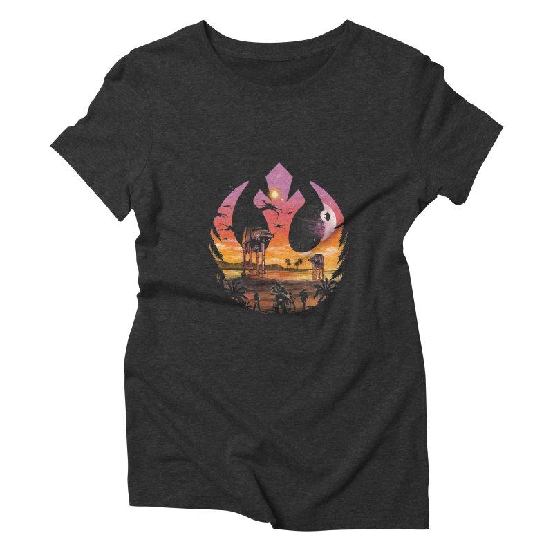 Rebellion Sunset Women's Triblend T-Shirt by dandingeroz's Artist Shop