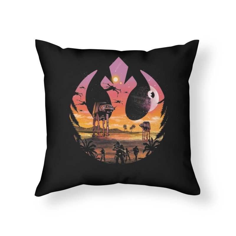 Rebellion Sunset Home Throw Pillow by dandingeroz's Artist Shop