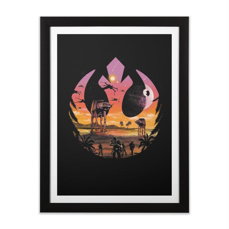 Rebellion Sunset Home Framed Fine Art Print by dandingeroz's Artist Shop