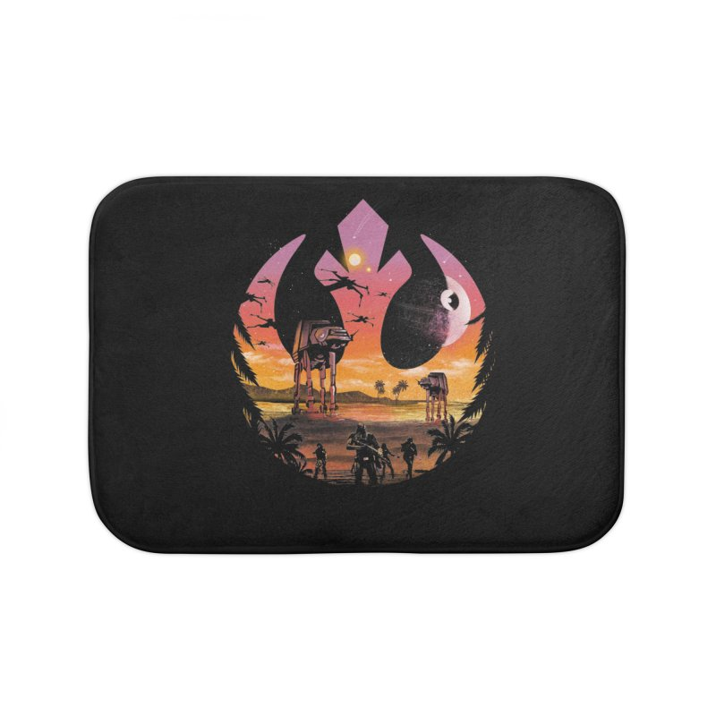 Rebellion Sunset Home Bath Mat by dandingeroz's Artist Shop