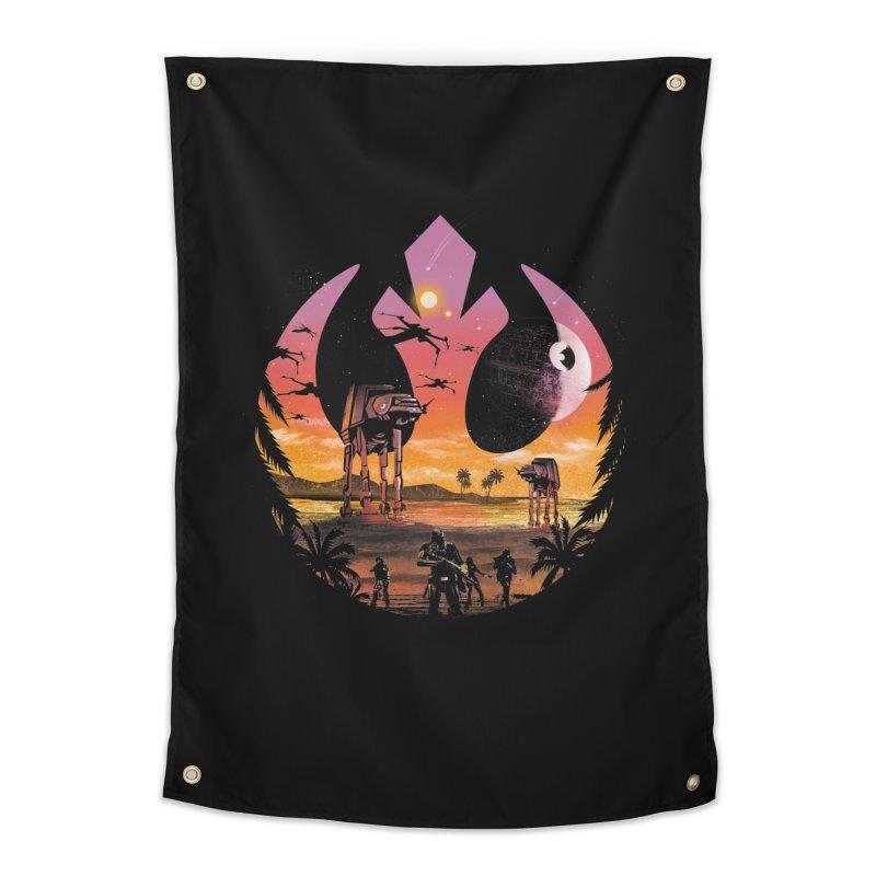 Rebellion Sunset Home Tapestry by dandingeroz's Artist Shop