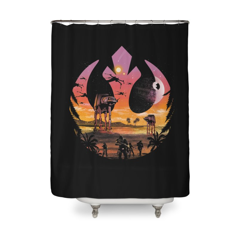 Rebellion Sunset Home Shower Curtain by dandingeroz's Artist Shop