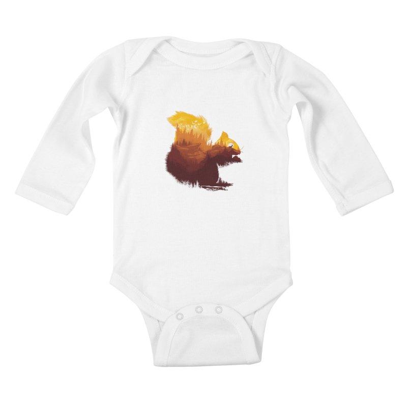 Be a little wild Kids Baby Longsleeve Bodysuit by dandingeroz's Artist Shop