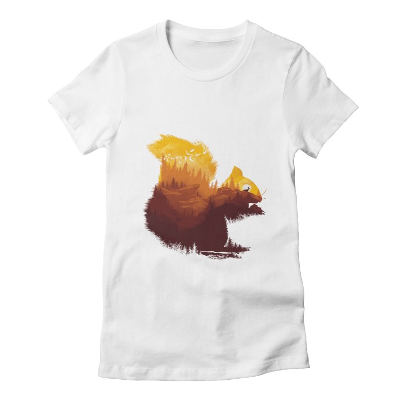 Be a little wild Women's Fitted T-Shirt by dandingeroz's Artist Shop