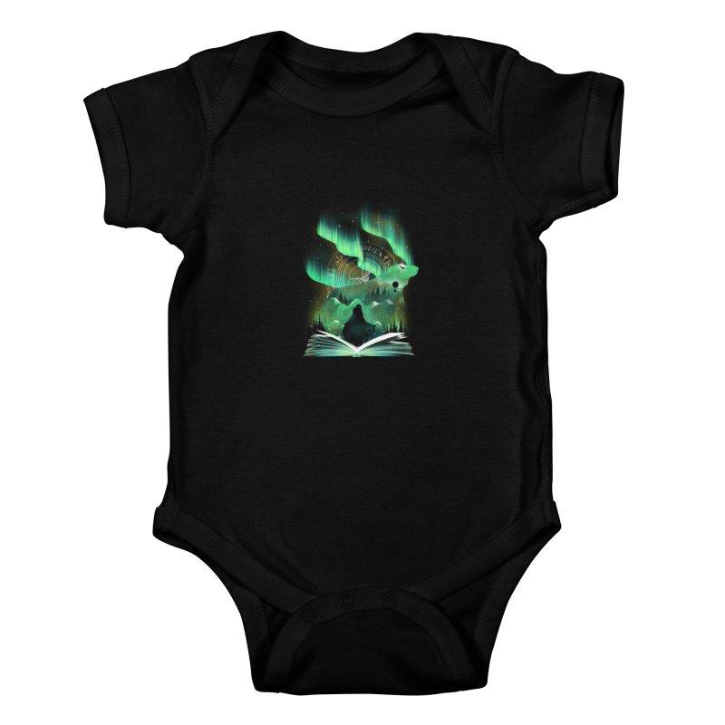 The Golden Night Kids Baby Bodysuit by dandingeroz's Artist Shop