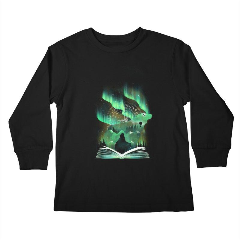 The Golden Night Kids Longsleeve T-Shirt by dandingeroz's Artist Shop