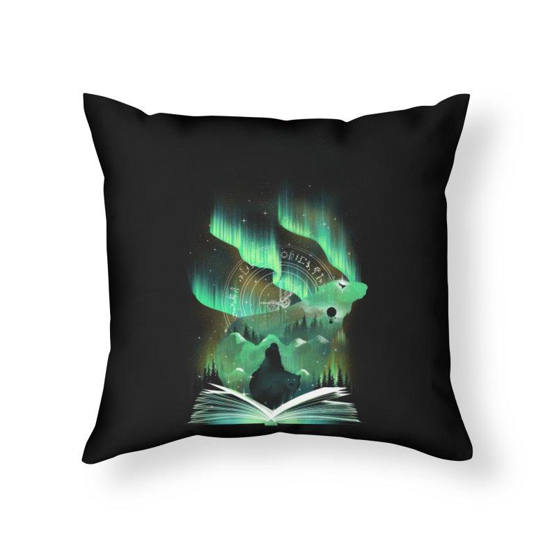 The Golden Night Home Throw Pillow by dandingeroz's Artist Shop