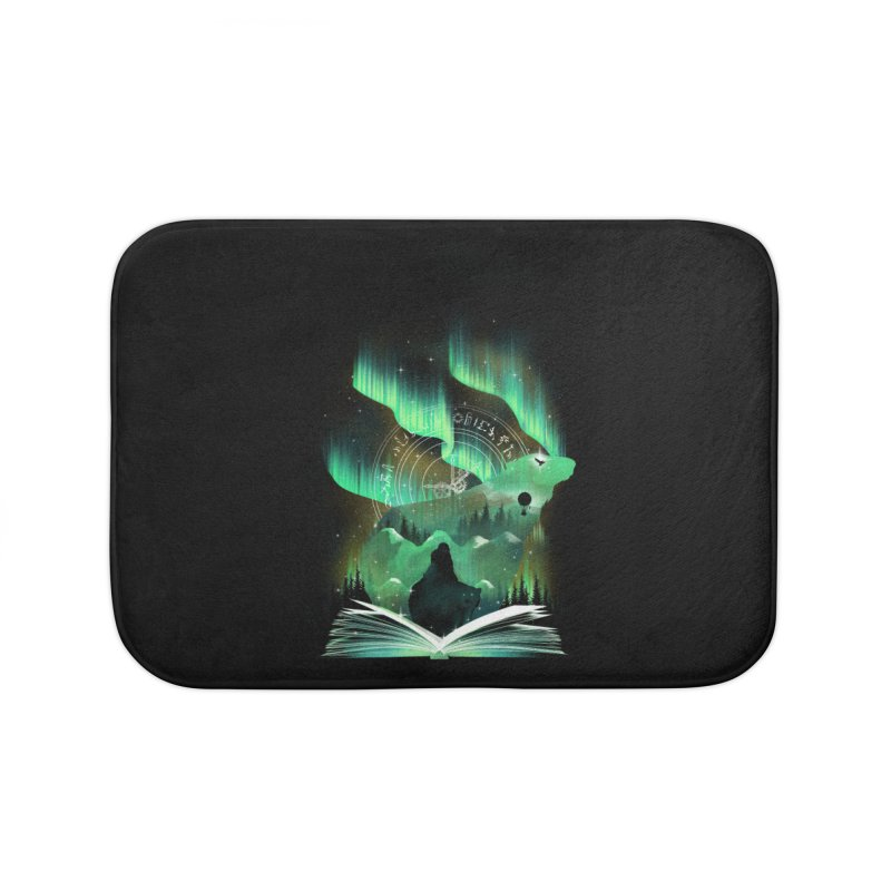 The Golden Night Home Bath Mat by dandingeroz's Artist Shop