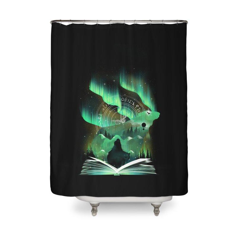 The Golden Night Home Shower Curtain by dandingeroz's Artist Shop