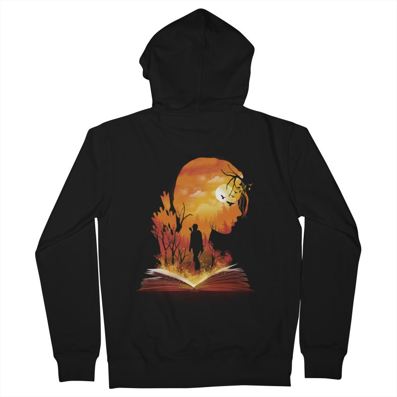 Book of Dystopia Men's Zip-Up Hoody by dandingeroz's Artist Shop