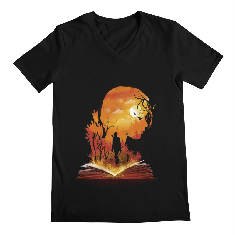 Book of Dystopia Men's V-Neck by dandingeroz's Artist Shop