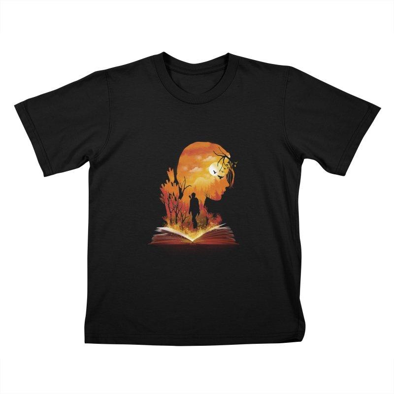 Book of Dystopia Kids T-Shirt by dandingeroz's Artist Shop