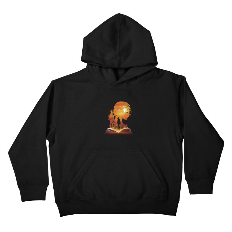 Book of Dystopia Kids Pullover Hoody by dandingeroz's Artist Shop