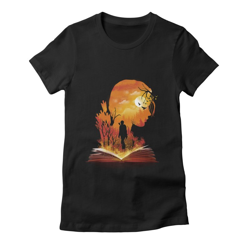 Book of Dystopia Women's Fitted T-Shirt by dandingeroz's Artist Shop