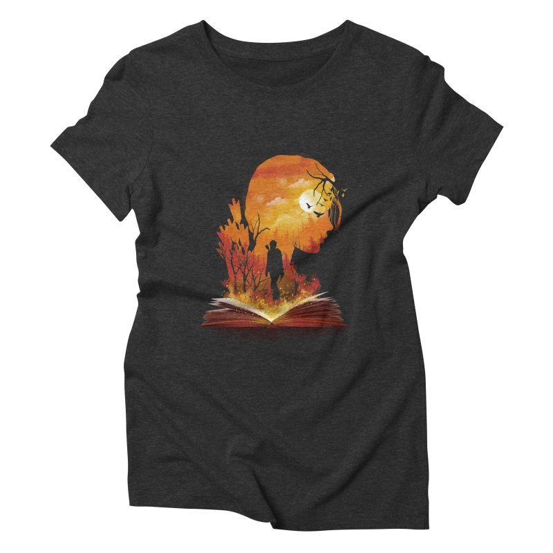 Book of Dystopia Women's Triblend T-Shirt by dandingeroz's Artist Shop