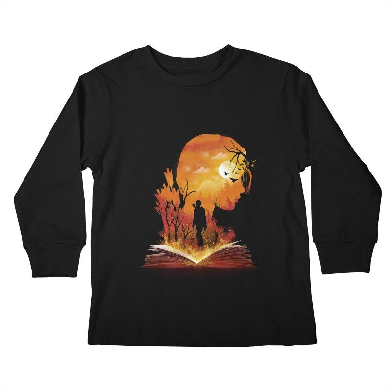 Book of Dystopia Kids Longsleeve T-Shirt by dandingeroz's Artist Shop