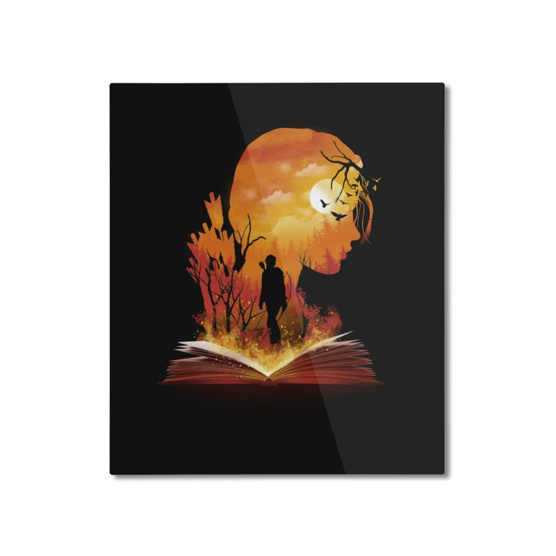 Book of Dystopia Home Mounted Aluminum Print by dandingeroz's Artist Shop