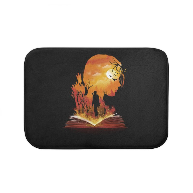 Book of Dystopia Home Bath Mat by dandingeroz's Artist Shop