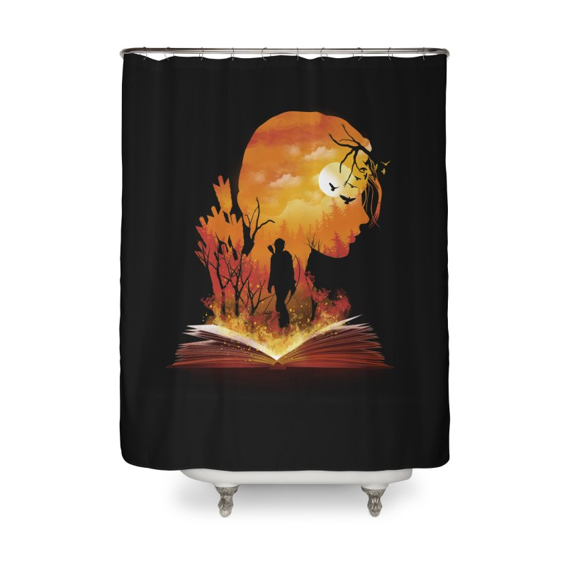 Book of Dystopia Home Shower Curtain by dandingeroz's Artist Shop