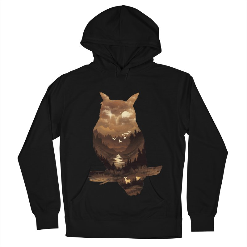 The Night Hunter Men's French Terry Pullover Hoody by dandingeroz's Artist Shop