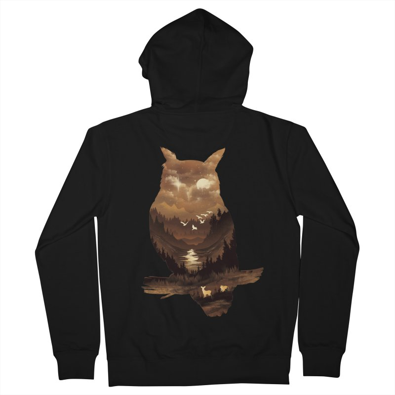 The Night Hunter Men's Zip-Up Hoody by dandingeroz's Artist Shop