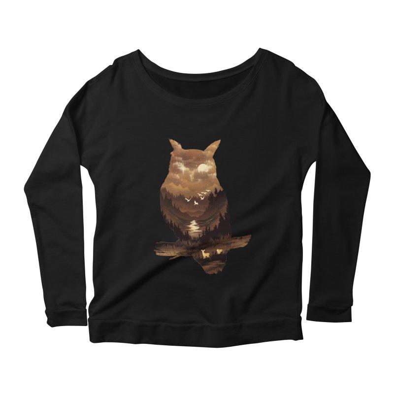 The Night Hunter Women's Scoop Neck Longsleeve T-Shirt by dandingeroz's Artist Shop
