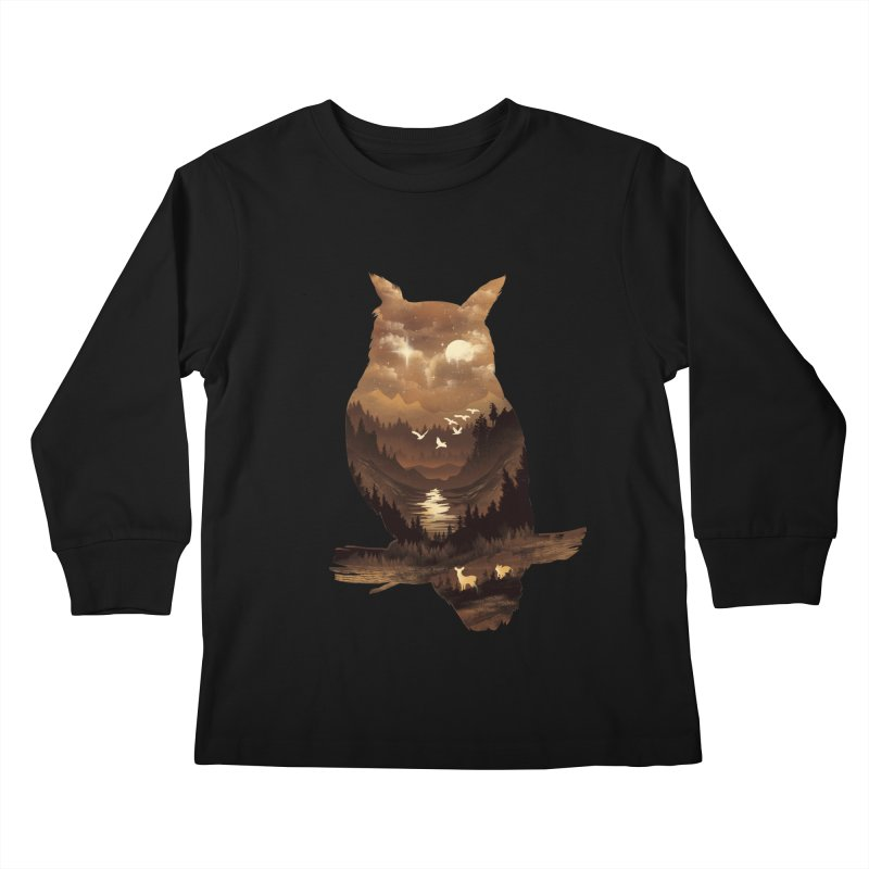 The Night Hunter Kids Longsleeve T-Shirt by dandingeroz's Artist Shop
