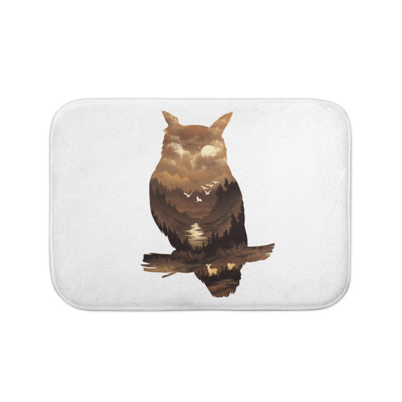 The Night Hunter Home Bath Mat by dandingeroz's Artist Shop