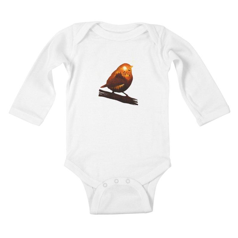 Dream big Kids Baby Longsleeve Bodysuit by dandingeroz's Artist Shop