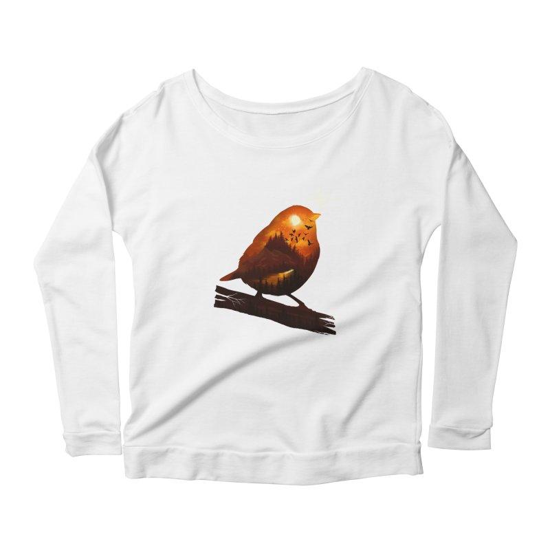 Dream big Women's Scoop Neck Longsleeve T-Shirt by dandingeroz's Artist Shop