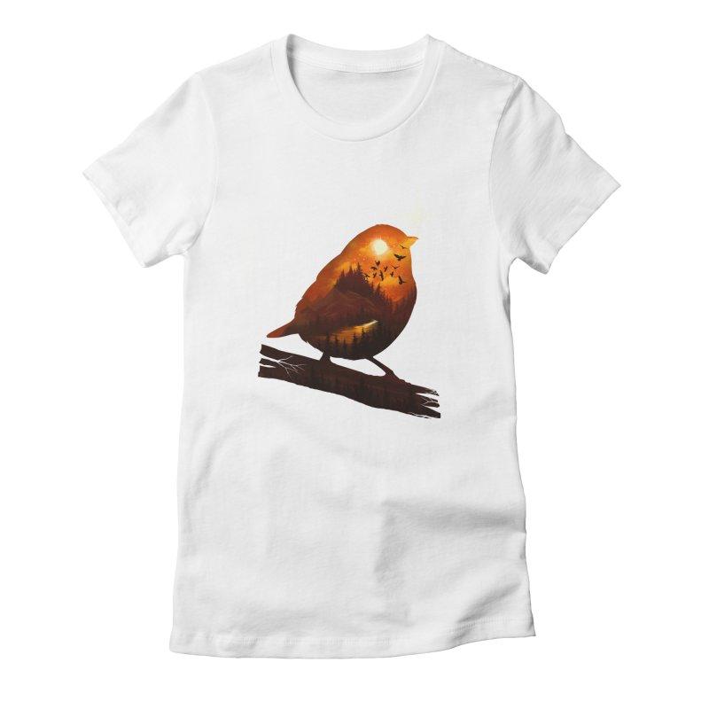 Dream big Women's Fitted T-Shirt by dandingeroz's Artist Shop