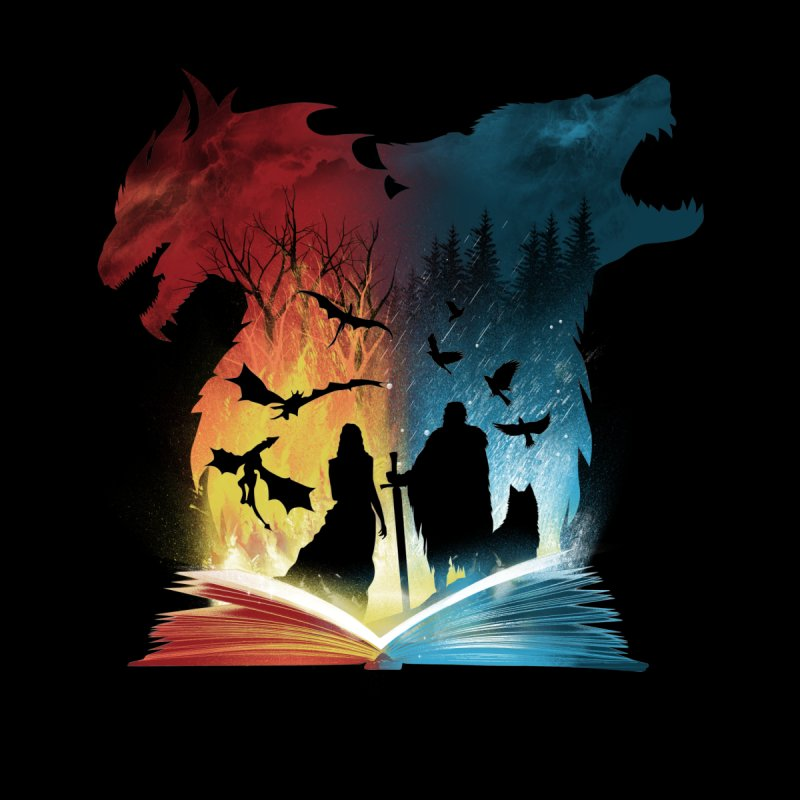 Book of Fire and Ice Men's Triblend Tank by dandingeroz's Artist Shop
